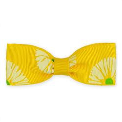 Arco del nastro della stampa di colore giallo del boutique per la decorazione dei capelli dei capretti