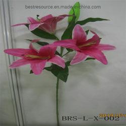 ホーム装飾のための熱い販売の人工花の実質の接触ユリ