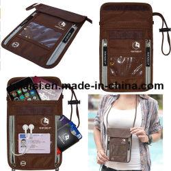 도둑질 보호에 의하여 숨겨지는 RFID 여권 홀더 목 여행 지갑
