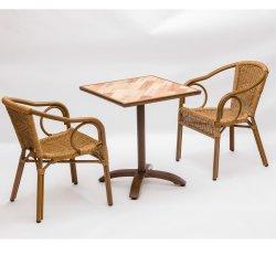 정원 Tall를 위한 직업적인 Rattan Chair Natural Wrought Iron