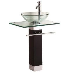 Badezimmer mit Waschtisch aus gehärtetem Glas (BLS-2167)