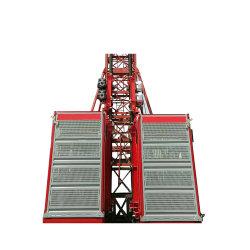 3개의 모터 구동 메커니즘을 갖춘 건설 기계 엘리베이터 조수석 호이스트 자재 화물 운반 호이스트