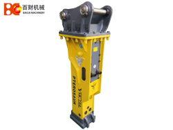 Jcb 3cx 굴착기 로더 굴착기 부착은 Sb43 유압 구체적인 잭 망치 바위 차단기를 분해한다