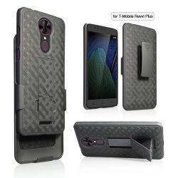 La alta calidad de plástico anti Shock Kickstand PC Phone para T-Mobile Revvl Plus, para T-Mobile Revvl Plus