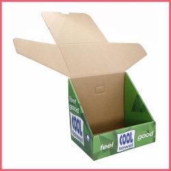 Visor de papel ondulado impresso personalizado PDQ fabricante caixa de papelão da embalagem de Fábrica do Fornecedor