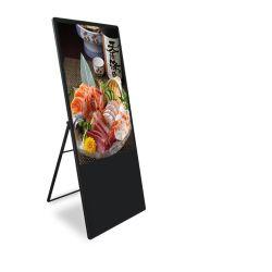 Usine de la publicité de l'écran LCD 43 pouces affiche FHD Réseau numérique portable affiche de la béquille de support LCD Kiosque pour Shop