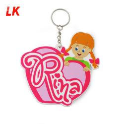 Caractère personnalisé Doll en PVC souple en caoutchouc de silicone d'Anime mignon en plastique avec lien de la chaîne de clés