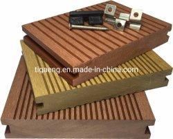 Plancher de bois composite en plastique à l'extérieur des matériaux de construction de pont
