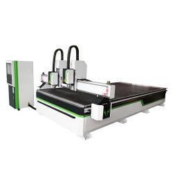 ماكينة توجيه CNC ذات رأس مزدوج تعمل بالخشب ماكينة نحت الخشب CNC 1325 1530 2030