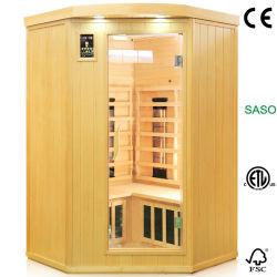 L'infrarouge lointain autostable Sauna sec Chambre avec chauffage combiné, un sauna sec thérapie chaud de la beauté de l'équipement