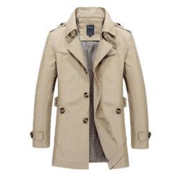 L'automne nouvelle veste pour hommes Hommes occasionnels la veste de manteau de tranchée de coton