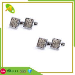 Cadeau promotionnel de façon personnalisée Metal Craft Enamel Mens Sterling Silver Liens brassard Cufflink en alliage de zinc (007)