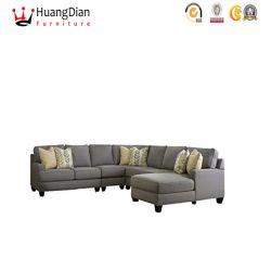Tissu personnalisé chinois le fournisseur de meubles en bois massif Hall Salle de séjour Canapé d'angle de stockage