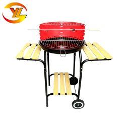 Chariot simple métal unique de charbon de bois Barbecue Barbecue ronde
