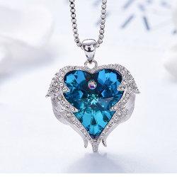 L'océan colliers Pendentif coeur Chandail de bijoux en cristal autrichien de la chaîne