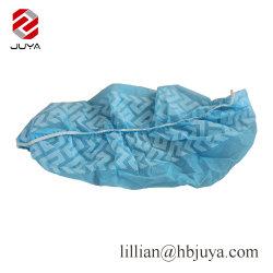 使い捨て可能なPPの青く白い医学の反スキッド非編まれたファブリック靴カバー