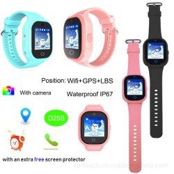 GPS/Lbs/WiFi étanches IP67 téléphone Kids Montre GPS tracker D25s