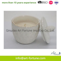 De Ceramische Kaars van uitstekende kwaliteit van de Geur met Deksel voor het Decor van het Huis