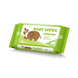 Pacote adorável orgânica biodegradável OEM mão toalhetes de bebé