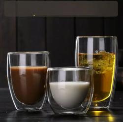 高ホウケイ酸ガラスワインカップグラスコーヒーカップ二重壁 ガラスカップグラスウェア
