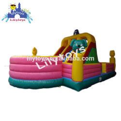 Caliente de venta personalizada de la fábrica de juguetes inflables inflables estilo diapositivas