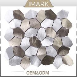 Unregelmäßiges silbernes Gold aufgetragenes Metallmosaik für Küche-Wand-Fliesen