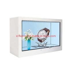 실내 미디어 플레이어 광고 디스플레이 32'' 투명 LCD 디스플레이 상자 화면 소형 비디오 플레이어 키오스크 유연성
