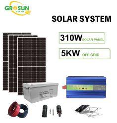 Off-Grid avec système d'alimentation solaire 310W mono du système PV solaire panneau 5kw