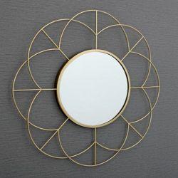 Metallblumenmuster-Spiegel-Ausgangsdekor für Wand