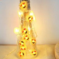 Cadena de la navidad de luz LED de luz, el muñeco de nieve de la Sandía Cara Sonriente Fairy colgar Dormitorios Decoración de Patio