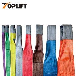 1ton resistente alla cinghia di sollevamento di sollevamento piana dell'imbracatura della tessitura del poliestere 24ton
