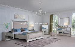 Spätestes modernes einfaches Champagne-Schlafzimmer-Möbel-Set