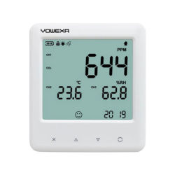 Yem-40bl CO Digital2 Multímetro higrómetro termómetro de registo de dados do Indicador de Função de Temperatura do Monitor de Umidade