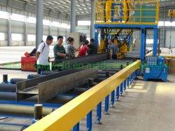 자동 성형 미변형 강 구조 수평 H 빔 용접 생산 기계