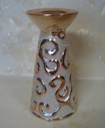 Maak Electrogilding Houder van de Kaars van de Keramiek voor Decoratie (YS11207) in reliëf