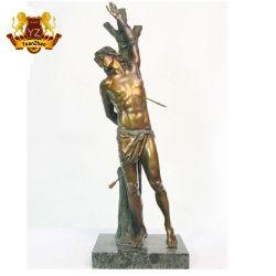 던지기 청동색 동상 실물 크기 종교적인 동상 St. Sebastian 동상