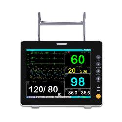 1.12.72 Ossen شاشة TFT ملونة محمولة عالية الدقة مقاس 15 بوصة نظام مراقبة المستشفى الجراحي متعدد المعلمات نظام مراقبة المبيت الجانبي الحيوي المريض M