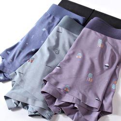 Impresso Seamless Cuecas, respirável e confortáveis, Pugilista homens Four-Corner Lingerie Modal
