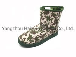 Baby-Schnee-Aufladungs-Winter-Schuhe für Kinder wärmen bunter Winter-Pelz-rutschfesten Tarnung-Druck