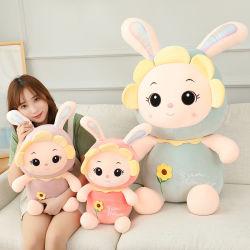 Ins juguete de peluche de Conejo Conejo Girasol Doll muñeca bebé confort almohada para dormir cojín Volver