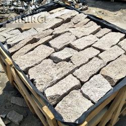 SMC-FS038 de la Chine Jaune de sésame de granit naturel lâche de pierres empilées