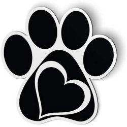 Auto koelkast Paw hart Cat Dog Magnet Sticker