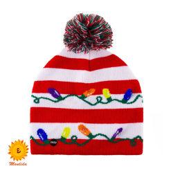 قبعات الخرز الشتوية لطفلة أو أمي تثن دافئا [بومبون] أغطية والد - طفلة أزياء فاخرة [جكر] عيد ميلاد المسيح أغطية