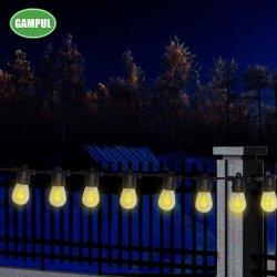 Chese Factory Weatherالمقاومة للعذر في الهواء الطلق 1W S14 LED Filent Replacement Solar مصابيح كهربائية من السلسلة E26 قاعدة للديكورات المنزلية عطلة الإضاءة