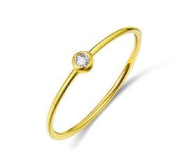 Оптовая торговля простая конструкция кольца 925 серебристые с золотым покрытием мода Ювелирные изделия