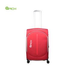 """20"""" 24"""" 28"""" 3PCS Jeu matériel de tapisserie de valise trolley avec une grande poche avant les roues de chariot en aluminium double système de bobine"""