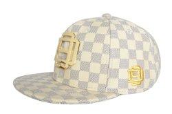 Cappelli di cuoio di Snapback di stampa dell'OEM della protezione piana dell'unità di elaborazione del comitato su ordinazione di modo 6 con il marchio del metallo