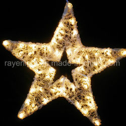 Il motivo esterno della stella del LED LED illumina l'indicatore luminoso di motivo della decorazione LED della stella degli indicatori luminosi di natale