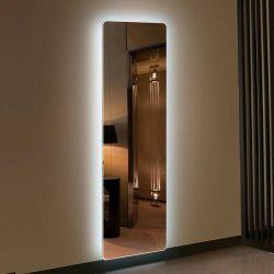 Rétroéclairé par LED lumineuse salle de bains avec miroir de courtoisie étanche de miroir de la lumière