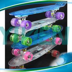 Skateboard van de Stuiver van LEIDENE het Lichte PC van het Skateboard Plastic Materiële